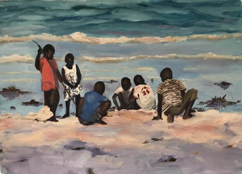East Africa. Beach boys, Zanzibar.