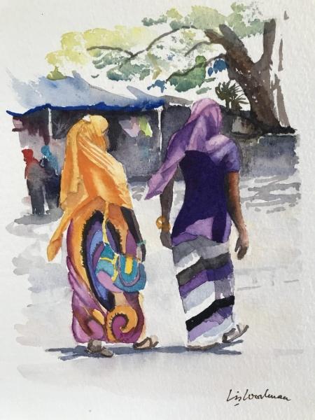 East Africa.  Zanzibari ladies.