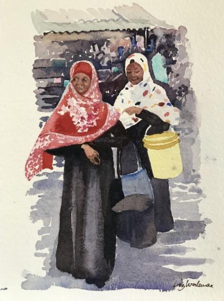 East Africa.  Zanzibar ladies.