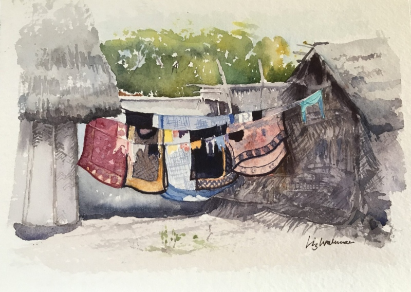 East Africa. Washing line, Zanzibar.