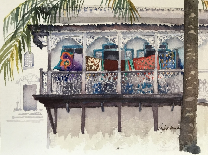 East Africa.  Stone Town Balcony.