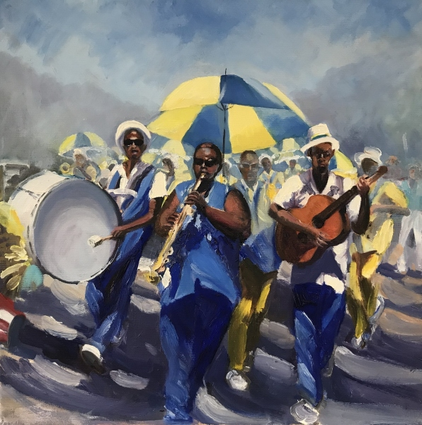 South Africa. Marching Band, Franschhoek.
