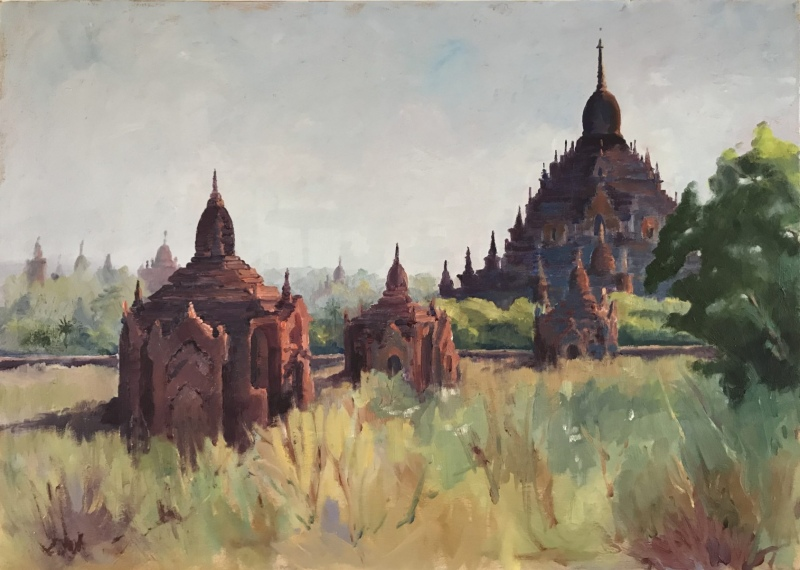 Burma. Stupas at Bagan.