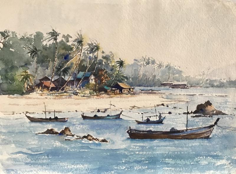 Burma. Ngapoli Bay.