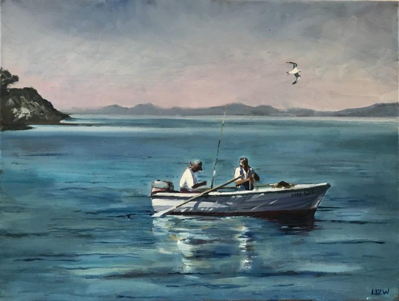 Croatia. Morning fishing, Osibova.