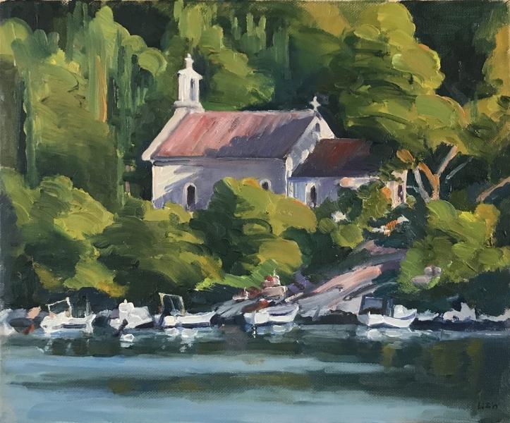 Croatia. Osibova church, Brac.