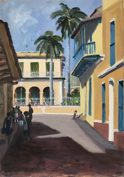 Cuba. Toward Plaza Mayor, Trinidad de Cuba.