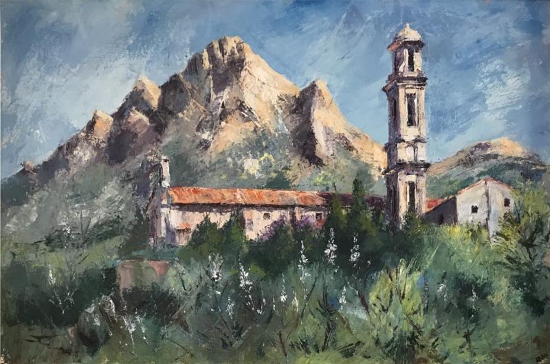 France & Corsica. Convent of St. Dominique, Corbara, Corsica.