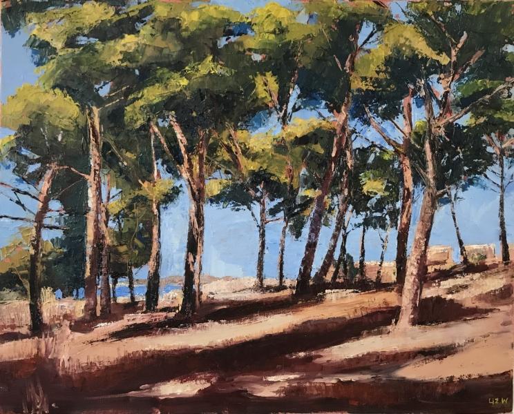Greece. Landscape at Pilos.