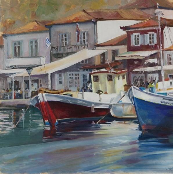 Greece. Boats in Hydra