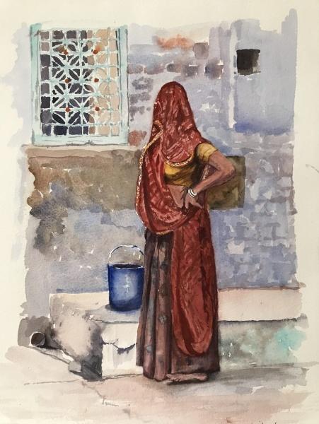India.  Rhajasthani lady.