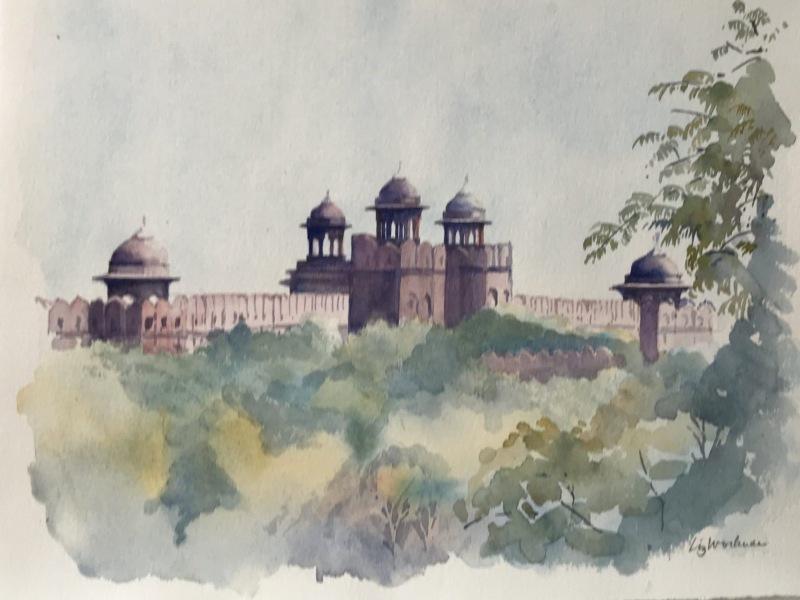 India.  Jaipur skyline.