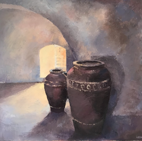 Oman.  Omani urns, Nizwa.