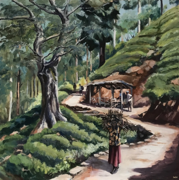 Sri Lanka.  Working in Tea plantations.