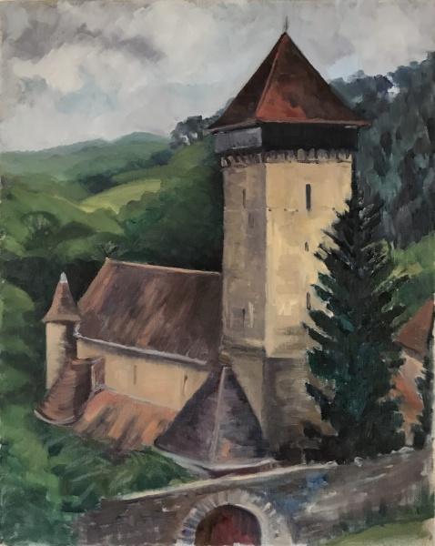 Transylvania.  Malancrav church.