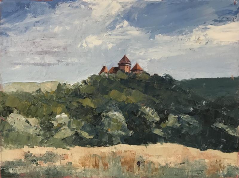 Transylvania.  Viscri church.