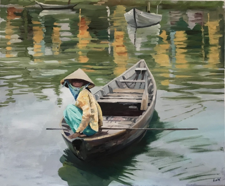 Vietnam & Laos.  Hoi An, waiting for custom.